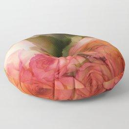 Bouquet Of Roses Floor Pillow