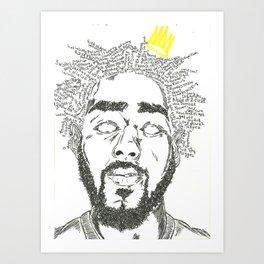 J Cole Art Print