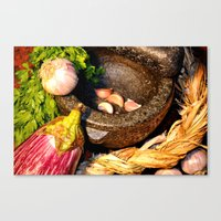 vegetables Canvas Prints featuring vegetables by  Agostino Lo Coco