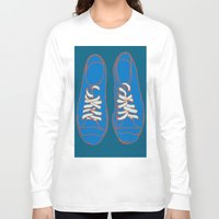 sneakers Long Sleeve T-shirts featuring Sneakers by Sam Ayres