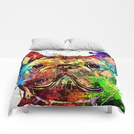 French Bulldog Grunge Comforters