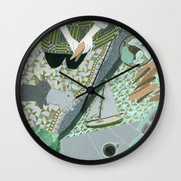 Carrot picnic Wall Clock