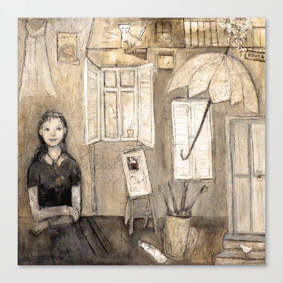 paints her world Canvas Print