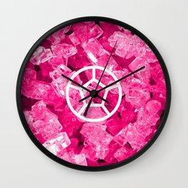 Rose Quartz Candy Gem Wall Clock