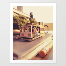 San Francisco Memories - Cable Car Art Print