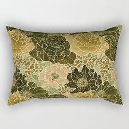 Floral Avacado Rectangular Pillow