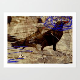 Crow's feet Art Print