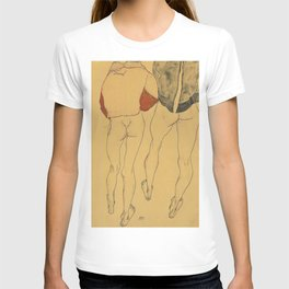 "Egon Schiele ""Two standing semi-nude females"" T-shirt"