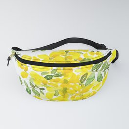 yellow scramble egg tree flower Fanny Pack