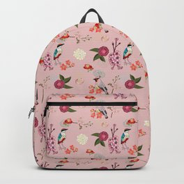 Eastern delight Japanese garden, pink. Backpack