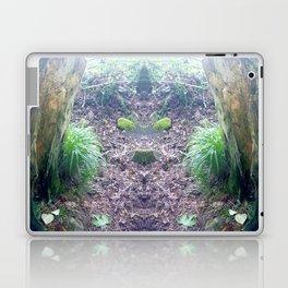 """Faeries and Trolls Welcome"". a split tree stump Laptop & iPad Skin"