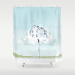 Reaching for home Shower Curtain