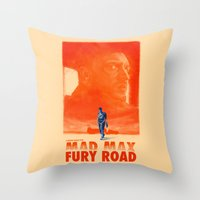 mad max Throw Pillows featuring Mad Max: Fury Road by days & hours