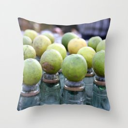 Lemon Sodas Throw Pillow