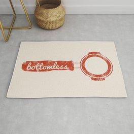 Bottomless Portafilter // Barista Espresso Machine Coffee Shop Humor Graphic Design Rug
