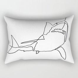 Great White Shark (white) Rectangular Pillow