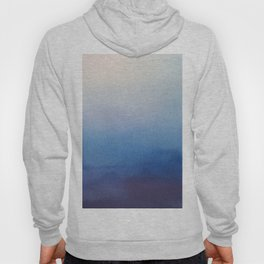 Ocean Mist - Abstract Watercolor Painting Blue and White Hoody