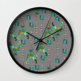 Guitar 1 Pattern - Dark Wall Clock