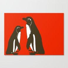 Animals Illustration - Penguins Canvas Print