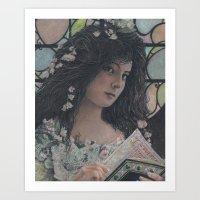 The Forbidden Book Art Print