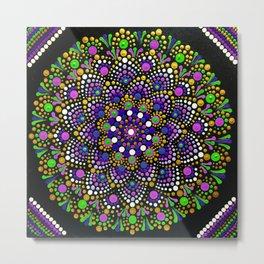 Sea Flower Mandala Metal Print