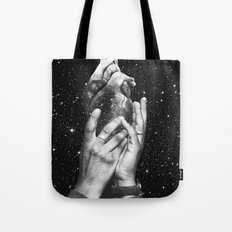 Heart says hold on Tote Bag