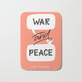 War and Peace hand lettering Bath Mat