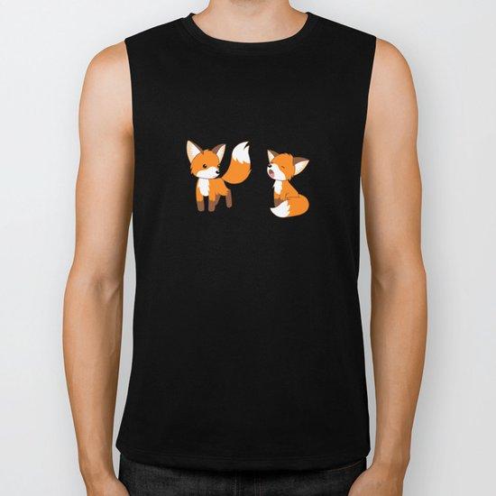 Cute Little Foxes Biker Tank