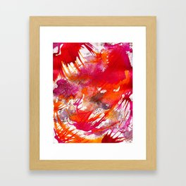 Swooping Abstraction Framed Art Print