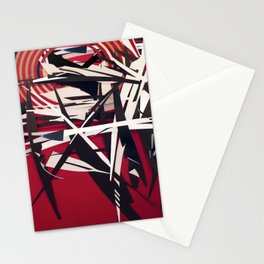 The Target- Red, Black and White Modern Abstract Stationery Cards