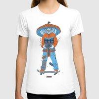 ski T-shirts featuring Raijin-Ski by VNEWMAN65