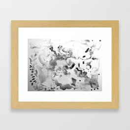 Abstract grey Framed Art Print