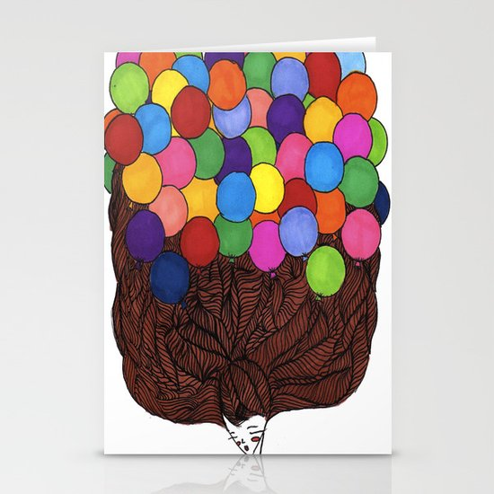 Balloon Head Stationery Cards