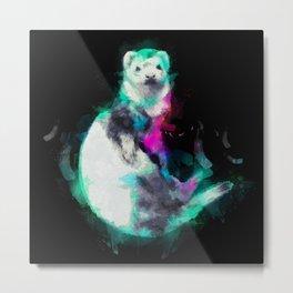 Painted Ferret Metal Print