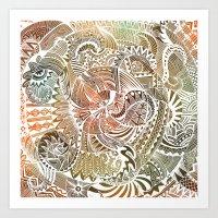 batik Art Prints featuring Batik by brenda erickson