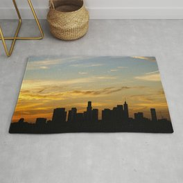 Sunset over Downtown Los Angeles Rug