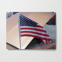 Flying Flag Metal Print