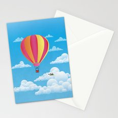 Picnic in a Balloon on a Cloud Stationery Cards