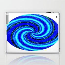 Blue Ball Swirl Laptop & iPad Skin