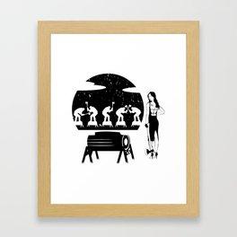 WOODCHOPPING WOMAN Framed Art Print