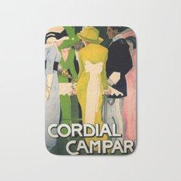 Vintage 1913 Cordial Campari Lithograph Alcoholic Advertisement by Marcello Dudovich Bath Mat