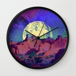 night desert landscape Wall Clock