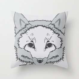 Pirate Fox Throw Pillow