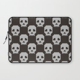 Knitted skull pattern Laptop Sleeve