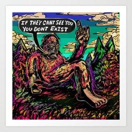 The Philosophy of Bigfoot Art Print