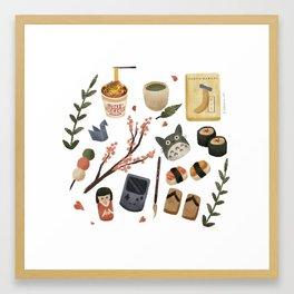 Japan Icons Framed Art Print