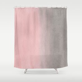 Gradient watercolor pink-gray Shower Curtain