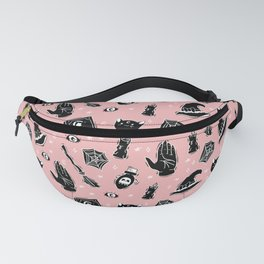 Witchy Print on Pink Fanny Pack