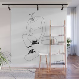 A Womans Stare Wall Mural