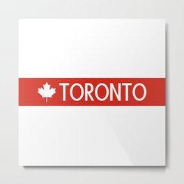 Toronto (White Maple Leaf) Metal Print